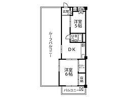 武蔵小金井フラワーホーム[4階]の間取り