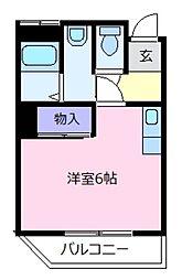 カツラマンション[3階]の間取り