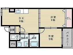 パレス東洋7号館[5階]の間取り