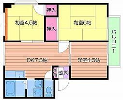 Osaka Metro谷町線 千林大宮駅 徒歩10分の賃貸マンション 1階3DKの間取り