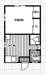 第2愛隣荘[1階]の間取り