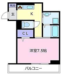 Osaka Metro御堂筋線 北花田駅 徒歩4分の賃貸アパート 1階1Kの間取り