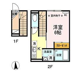 仮)D-room高砂3丁目[205号室]の間取り