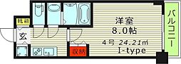S-RESIDENCE都島(エスレジデンス都島) 6階1Kの間取り