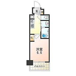 Osaka Metro御堂筋線 西中島南方駅 徒歩8分の賃貸マンション 10階1Kの間取り