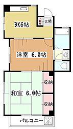小川レジデンス[2階]の間取り