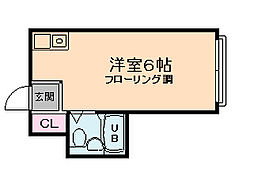 昭和グランドハイツ西九条[2階]の間取り