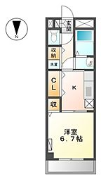 JR常磐線 我孫子駅 徒歩5分の賃貸マンション 5階1Kの間取り