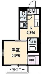 アンシャンテ 新田 B[2階]の間取り
