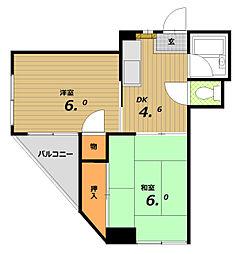 田中マンション(北町)[4階]の間取り