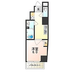 Osaka Metro谷町線 阿倍野駅 徒歩6分の賃貸マンション 3階1Kの間取り
