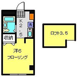 神奈川県横浜市旭区鶴ケ峰2丁目の賃貸マンションの間取り