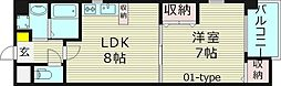 カサデラフェリシダ 2階1LDKの間取り