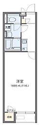 東武東上線 新河岸駅 徒歩21分の賃貸アパート 2階1Kの間取り