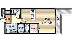 フロールマリポッサ[3階]の間取り