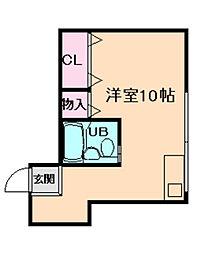 ツゥインクル堂島[2階]の間取り