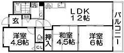 ルネ香里園[3階]の間取り
