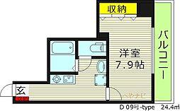 Mプラザ蒲生四駅前 9階1Kの間取り