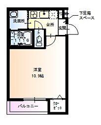 JR阪和線 百舌鳥駅 徒歩5分の賃貸アパート 1階1Kの間取り