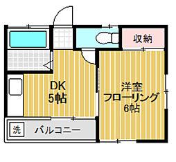 東京都世田谷区八幡山3丁目の賃貸アパートの間取り