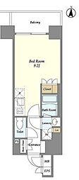 東京メトロ半蔵門線 錦糸町駅 徒歩9分の賃貸マンション 6階ワンルームの間取り