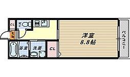 大阪府堺市中区土師町4丁の賃貸マンションの間取り