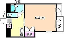 大阪府枚方市牧野本町2丁目の賃貸マンションの間取り