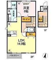 仮)D-room小寺[2階]の間取り