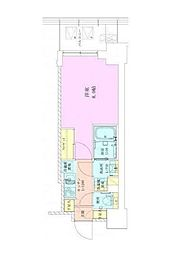 東京メトロ千代田線 赤坂駅 徒歩3分の賃貸マンション 6階1Kの間取り