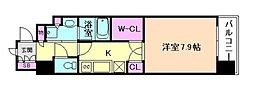 大阪府大阪市西区靱本町3丁目の賃貸マンションの間取り