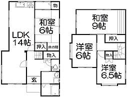 [一戸建] 大阪府枚方市星丘4丁目 の賃貸【/】の間取り