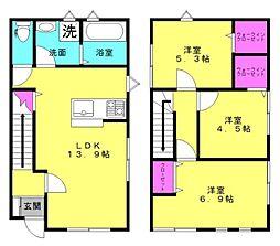 [タウンハウス] 兵庫県加古川市尾上町池田 の賃貸【/】の間取り