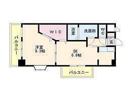 アミティエ博多駅南[6階]の間取り