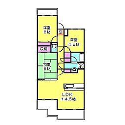 ガーデンハウス綱島B[2階]の間取り
