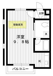 東京都練馬区練馬4丁目の賃貸マンションの間取り