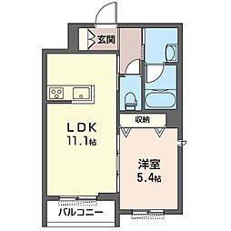 仮)幸区鹿島田1丁目マンション 3階1LDKの間取り
