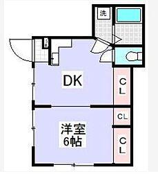 千雅荘[1階]の間取り