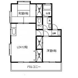神奈川県川崎市多摩区菅北浦4丁目の賃貸アパートの間取り