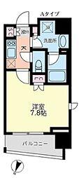 東京メトロ丸ノ内線 後楽園駅 徒歩9分の賃貸マンション 4階1Kの間取り
