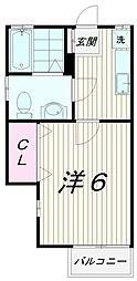 東京都世田谷区八幡山2丁目の賃貸アパートの間取り