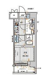 東急東横線 元住吉駅 徒歩11分の賃貸マンション 7階1Kの間取り