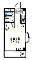 キューブ玉川台[203号室]の間取り