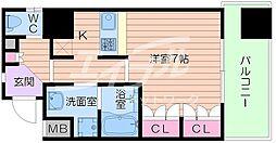 大阪府大阪市浪速区日本橋5丁目の賃貸マンションの間取り