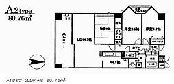 アンソレイエ[4階]の間取り