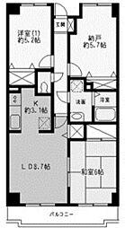 神奈川県川崎市多摩区生田3丁目の賃貸マンションの間取り