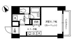 シャルム内神田 9階1Kの間取り