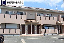 愛知県豊橋市上野町字新上野の賃貸アパートの外観