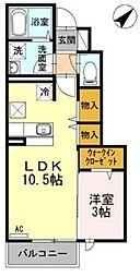 CASA de Ryo 1階1LDKの間取り