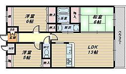 セントラル・コート[3階]の間取り