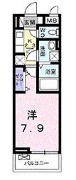 東武東上線 柳瀬川駅 徒歩11分の賃貸アパート 2階1Kの間取り